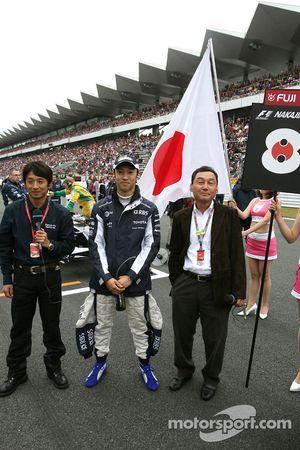 Ukyo Katayama, Fuji TV, Kazuki Nakajima, Williams F1 Team et son père Satoru