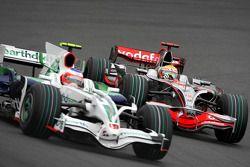 Rubens Barrichello, Honda Racing F1 Team, RA108, Lewis Hamilton, McLaren Mercedes, MP4-23