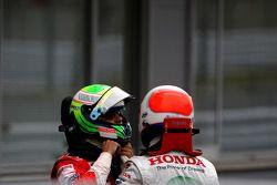 Felipe Massa, Scuderia Ferrari et Rubens Barrichello, Honda Racing F1 Team