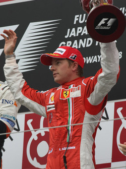 Podium: third place Kimi Raikkonen