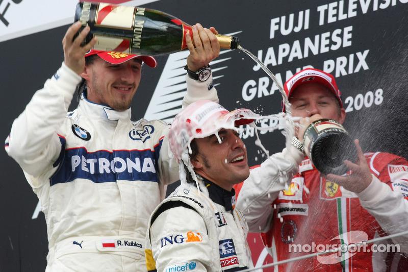 53- Fernando Alonso, 1º en el GP de Japón 2008 con Renault