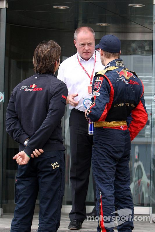 Sébastien Bourdais at race control after the race
