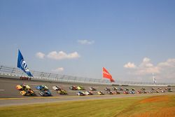 Erik Darnell and John Wes Townley lead the field to the green flag