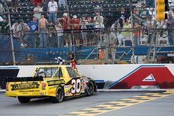 Race winner Todd Bodine celebrates