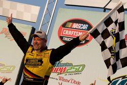 Victory lane: race winner Todd Bodine celebrates