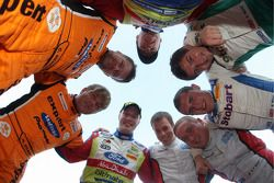 Ford drivers and co-drivers photoshoot: Hening Solberg, Cato Menkerud, Matthew Wilson, Scott Martin,