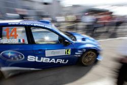 Brice Tirabassi et Fabrice Gordon, Subaru World Rally Team, Subaru Impreza WRC