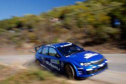 Chris Atkinson and Stéphane Prévot, Subaru World Rally Team, Subaru Impreza WRC