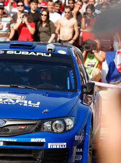 Chris Atkinson and Stéphane Prévot, Subaru World Rally Team, Subaru Impreza WRC