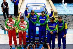 Deuxième Place pour Hiroshi Yanagisawa et son copilote Yoshimasa, gagnants: Cody Crocker et son copilote Ben atkinson et à la troisième place Rizal Sungkar et son copilote Anthony Sarwono
