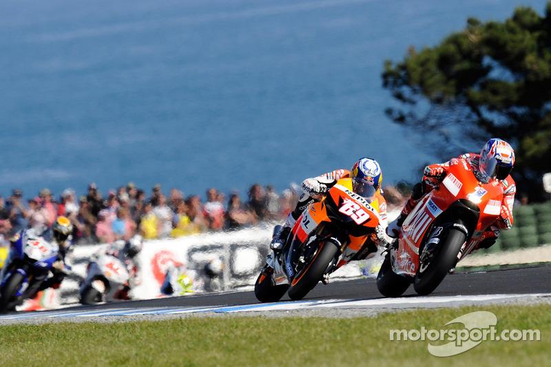 2008: Casey Stoner y Nicky Hayden, GP de Australia