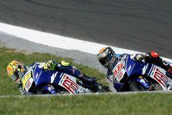 Valentino Rossi and Jorge Lorenzo