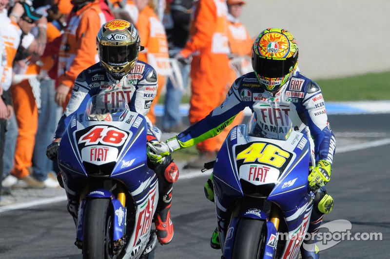 Jorge Lorenzo y Valentino Rossi, FIAT Yamaha Factory Team