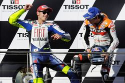 Podium: second place Valentino Rossi and third place Dani Pedrosa
