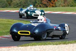 #31 Ivan Dutton, Lotus 11 Le mans; #18 John Clark, Cooper T39 Bobtail