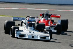 #21 Anthony Hancock, Surtees TS19; Christophe d'Ansembourg, McLaren M26