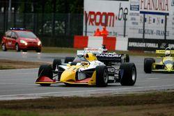 Premier tour ; #11 Walter Colacino, IRL G-Force, #65 Alain De Blandre, CART Lola, #31 Henk De Boer,C