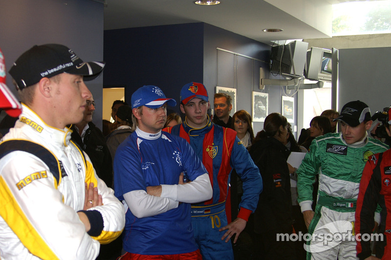 In the press room: from left to right, Paul Meijer, Ryan Dalziel