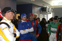 In the press room: from left to right, Paul Meijer, Ryan Dalziel, Max Wissel, and Davide Rigon