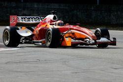 In the Gil Villeneuve chicane; Enrico Toccacelo - AS Roma Fisichella Motor Sport