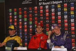 Press room conference for Paul Meijer, Adrian Valles, and Craig Dolby