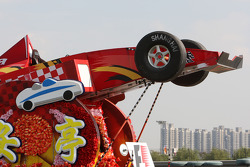 float used for pilotu s parade, Sunday