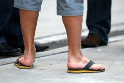 footwear, Fernando Alonso, Renault F1 Team