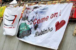 Une bannière de Rubens Barrichello, Honda Racing F1 Team