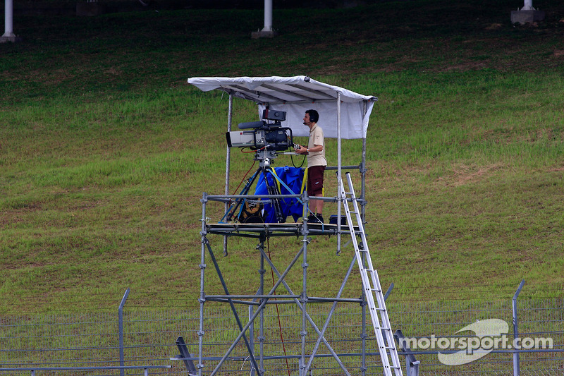 MotoGP TV cameraman at work