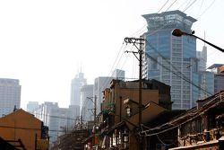 Les anciennes et les nouvelles zones de Shangai