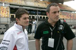 Giancarlo Fisichella with Paolo Coloni, Fisichella Motor Sport International Team Principal