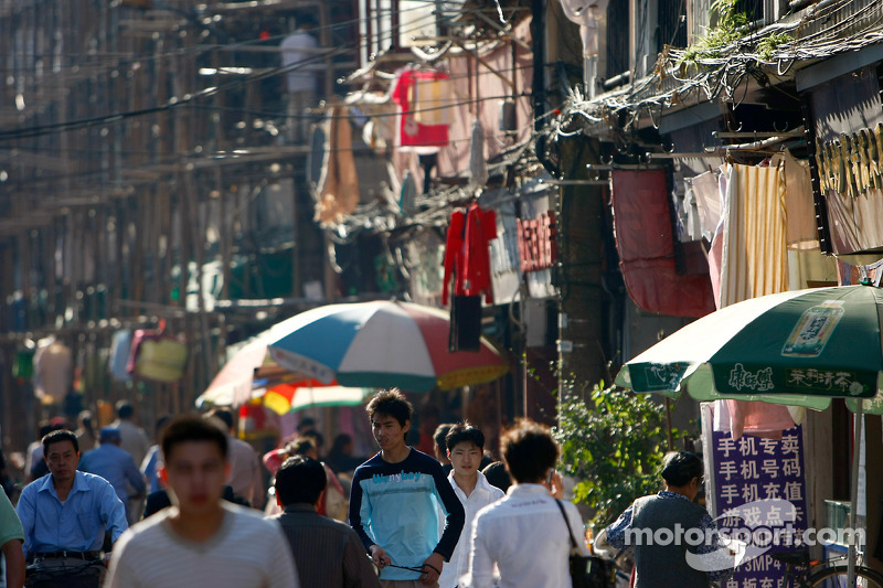 Scène de rue de Shangai