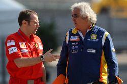 Stefano Domenicali, Scuderia Ferrari, Direktör, Flavio Briatore, Renault F1 Team, Takım Şefi, Direkt