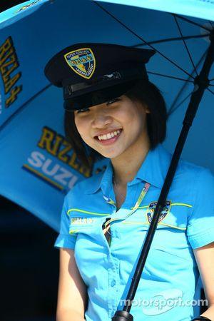 A Rizla Suzuki girl