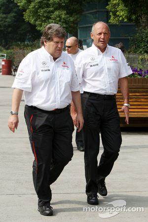 Норберт Хауг, Mercedes, и Рон Деннис, McLaren