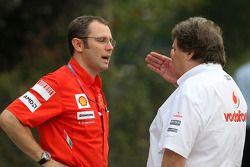Stefano Domenicali, Scuderia Ferrari, Director deportivo, Norbert Haug, Mercedes, jefe de Motorsport