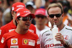 Rubens Barrichello, Honda Racing F1 Team, Felipe Massa, Scuderia Ferrari