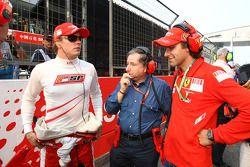 Kimi Raikkonen y Scuderia Ferrari, con Jean Todt, Scuderia Ferrari, Director General de Ferrari, Luc