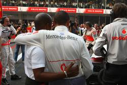 Anthony Hamilton, padre de Lewis Hamilton y de Lewis Hamilton, McLaren Mercedes