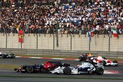 Sebastian Vettel, Scuderia Toro Rosso, STR03, Robert Kubica, BMW Sauber F1 Team, F1.08