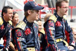 Scuderia Toro Rosso team, Sebastian Vettel y Sébastien Bourdais