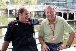 Gerhard Berger and Heinz Prueller