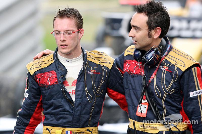 Sebastien Bourdais ve yarış mühendisi Claudio Balestri
