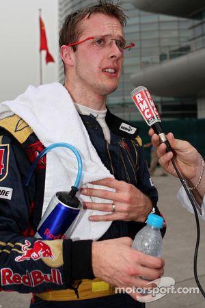 Sébastien Bourdais gives an interview
