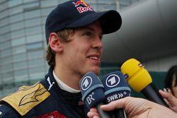 Sebastian Vettel donne une interview