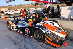 Pit stop for #37 Intersport Racing Lola B06/10 AER: Jon Field, Ryan Lewis, Richard Berry