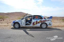 #14 Damas Rally Team Mitsubishi Lancer Evo 8: Faris Bustami et Ramzi Mansour