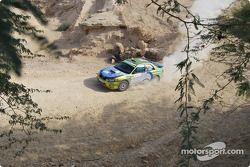 #30 Abir Al Batikhi Subaru Impreza WRX: Abir Al Batikhi et Mike Haddad