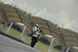 Победитель гонки - Валентино Росси празднует