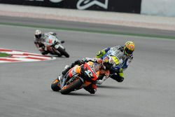 Dani Pedrosa and Valentino Rossi